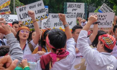 thomasians protesting for lumads